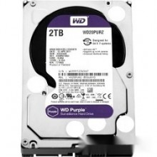 Жесткий диск 2TB WD Purple (WD20PURZ) {Serial ATA III, 5400- rpm, 64Mb, 3.5