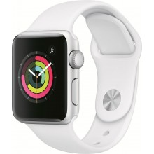Смарт-часы APPLE Watch Series 3 42мм,  серебристый / белый [mtf22ru/a] (0) (cl-1089997)