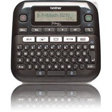 Принтер Brother P-touch PT-D210VP стационарный черный [ptd210vpr1] (1) (cl-478691)