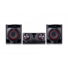 Минисистема LG CJ44 черный 720Вт/CD/CDRW/FM/USB/BT cj44.drusllk (16) (cl-481184)